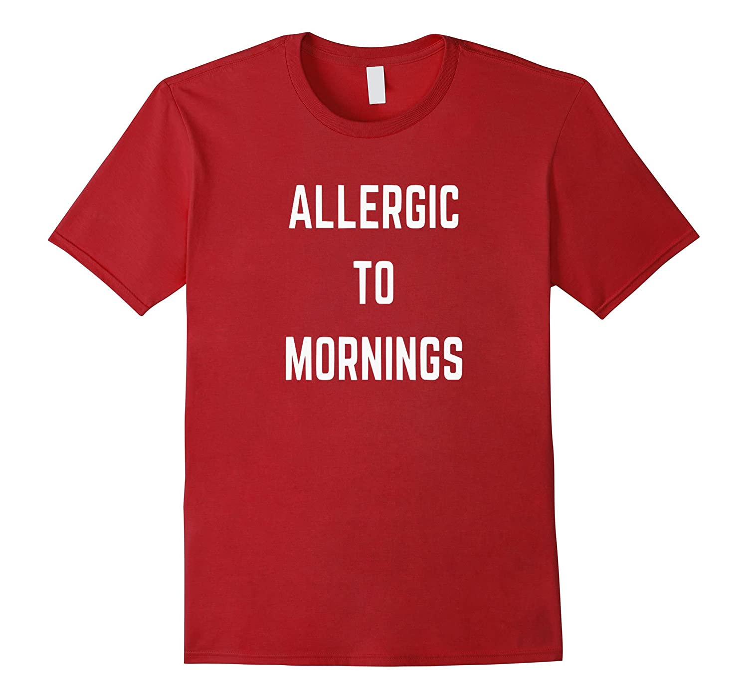 Allergic Mornings T shirt Large Black-Samdetee