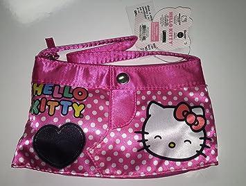 de negro de Kitty Bolso sonriente rosa cara corazón Hello mano Pp1wXxwqU
