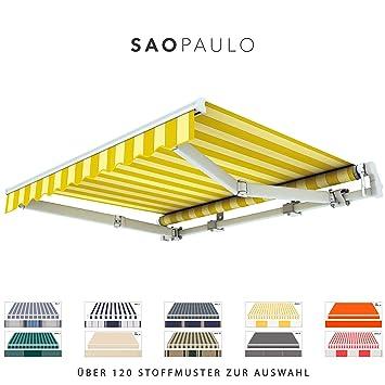 Amazon De Broxsun Gelenkarmmarkise Sao Paulo Breite 2m Bis 5 3m