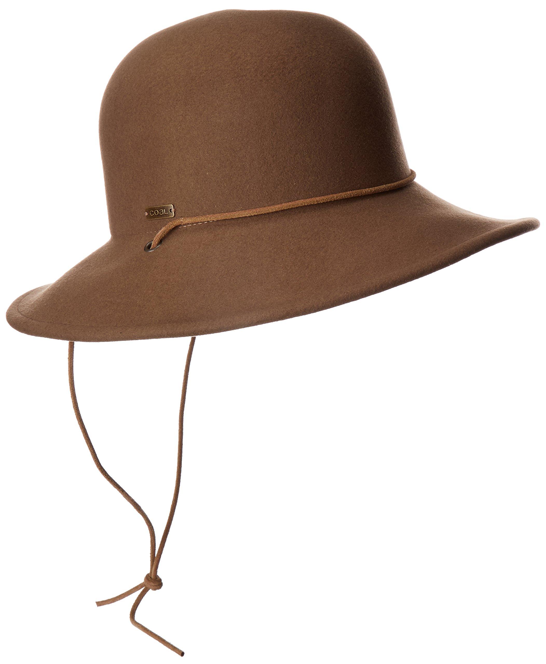Coal Women's The Waverly Wool Felt Hat, Light Brown, M