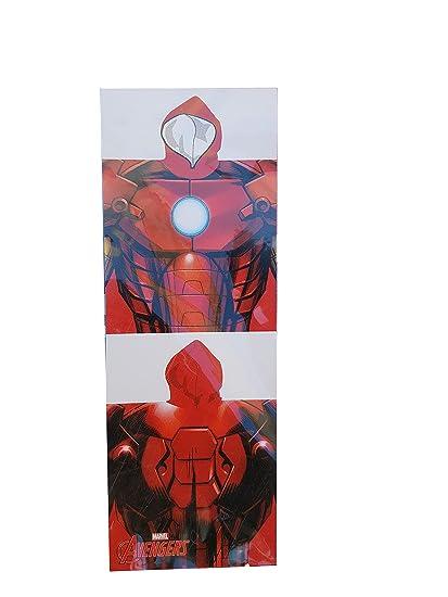 Poncho Vengadores 55x110 Para Niños Hulk Capitan America Iron Man Toallas Infantiles Avengers (IRON MAN