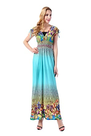 Zadaland Womens Summer Dresses Floral Long Maxi Dress Plus Size At