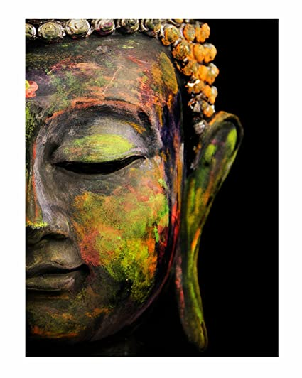 paper plane design lord buddha canvas paintings unframed rolled art
