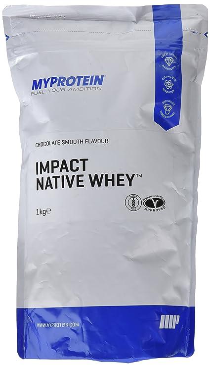 MyProtein Impact Native Whey 95 Aislado de Proteína de Suero, Sabor Chocolate Suave - 1000