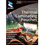 A5 Laminating Pouches High Gloss Laminator Sleeves 150 Micron (75 + 75 Microns) Glossy Laminate Pouch Sheets - Pack of 200