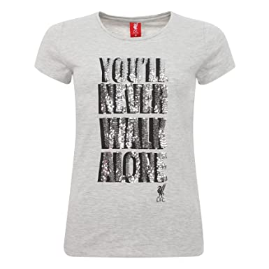 Liverpool FC Autumn-Winter 2017 Cotton Elastane Grey Ladies Womens  YNWA   Crew 4efb1fd2ff