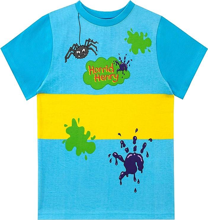 Horrid Henry Camiseta de Manga Corta para niños: Amazon.es: Ropa y accesorios