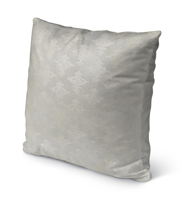 KAVKA Designs Vasos Indoor-Outdoor Pillow, TELAVC1003OP18 Size: 18X18X6 - Grey -