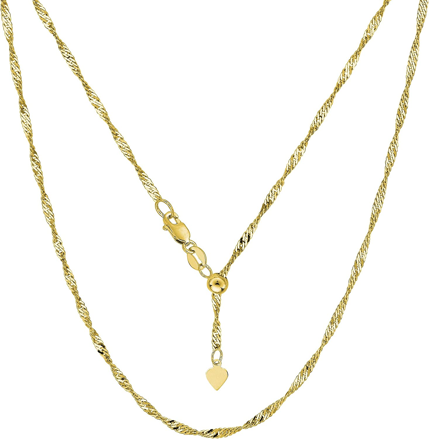 """14K Solid Real Yellow Gold Box Link Chain Necklace 1.0 mm 18/"""" Women /& Children"""
