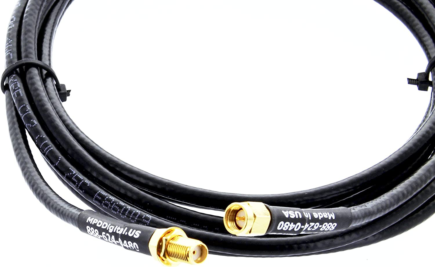 LMR-195 SMA Female Bulkhead to SMA Male Connector Extension Cable LMR195 1 Meter