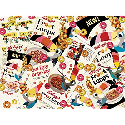 Vintage Kellogg's Retro Froot Loops 1000 Piece Jigsaw Adult Puzzle - By Karmin International.: Toys & Games
