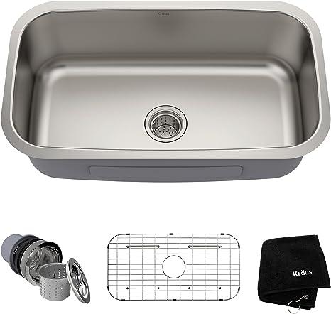 Kraus Single Bowl 16-gauge Stainless Steel Kitchen Sink (Best Under Mount Kitchen Sink)