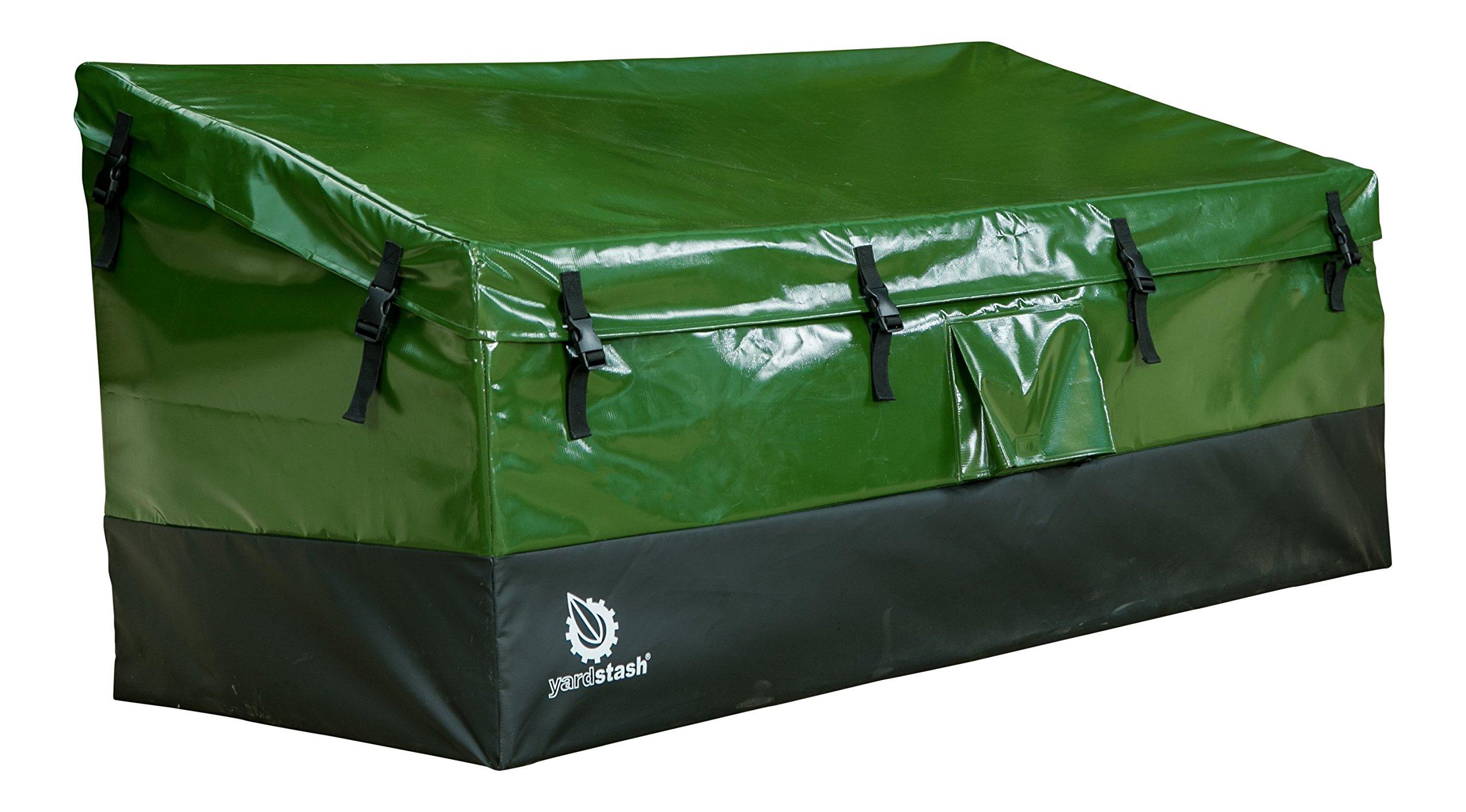 YardStash Outdoor Storage Deck Box XL: Easy Assembly, Portable, Versatile (150 Gallon, 20 Cubic Feet, Green)