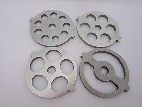 amazon com 4 new grinding plate discs for kitchenaid mixer fga