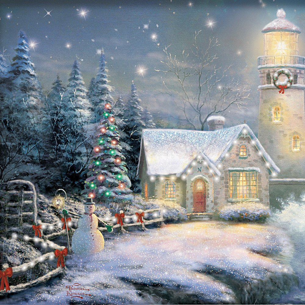 Amazon.com: Wall Decor: Thomas Kinkade Light Your Way Home Wall ...