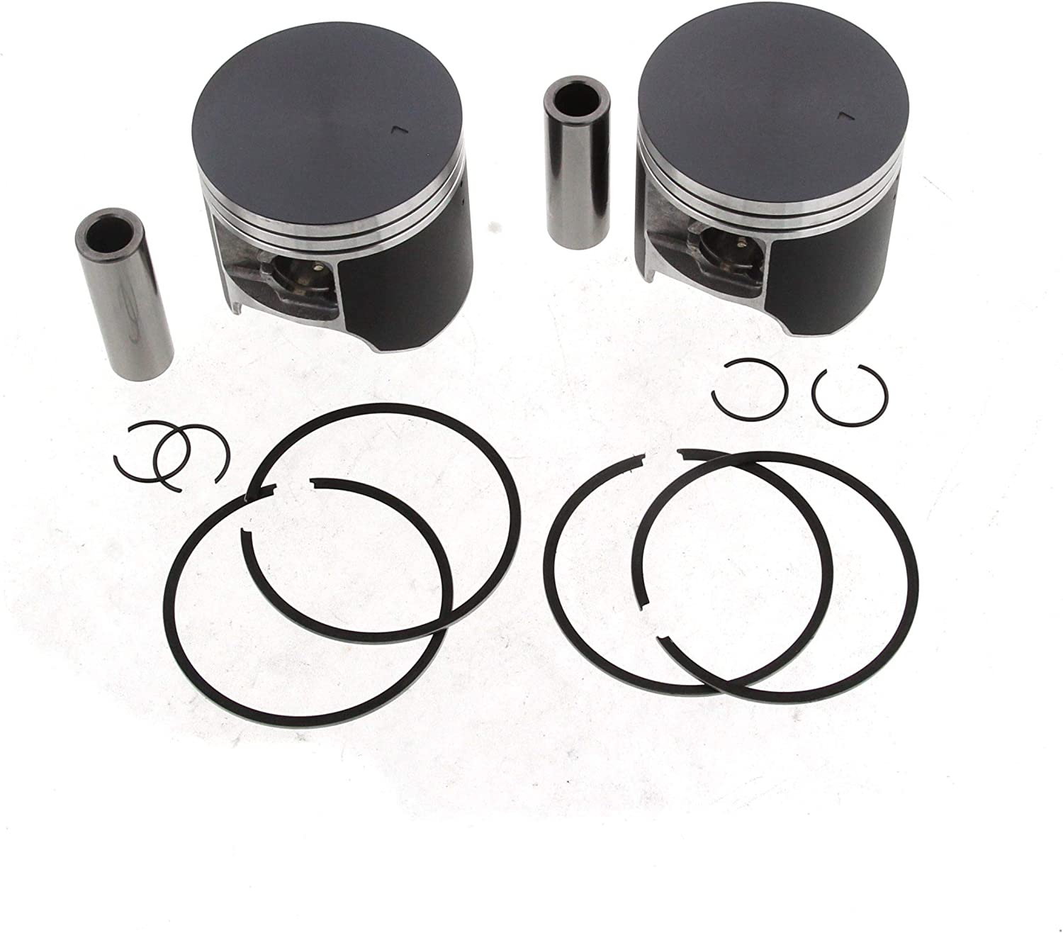 Piston Kit fits Arctic Cat ZL 600 1998-2000 A-Case Series 20mm Wrist Pin Teflon Coated x2 by Race-Driven