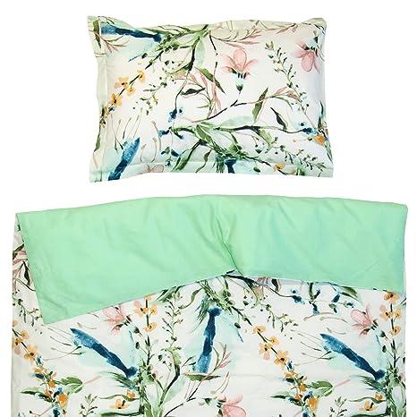 Aphrodite - Ropa de cama para minicuna, 100% Algodón (funda de edredón 80x120