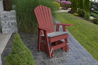 product image for Outdoor Poly Adirondack Gliding Chair - Cherry Wood