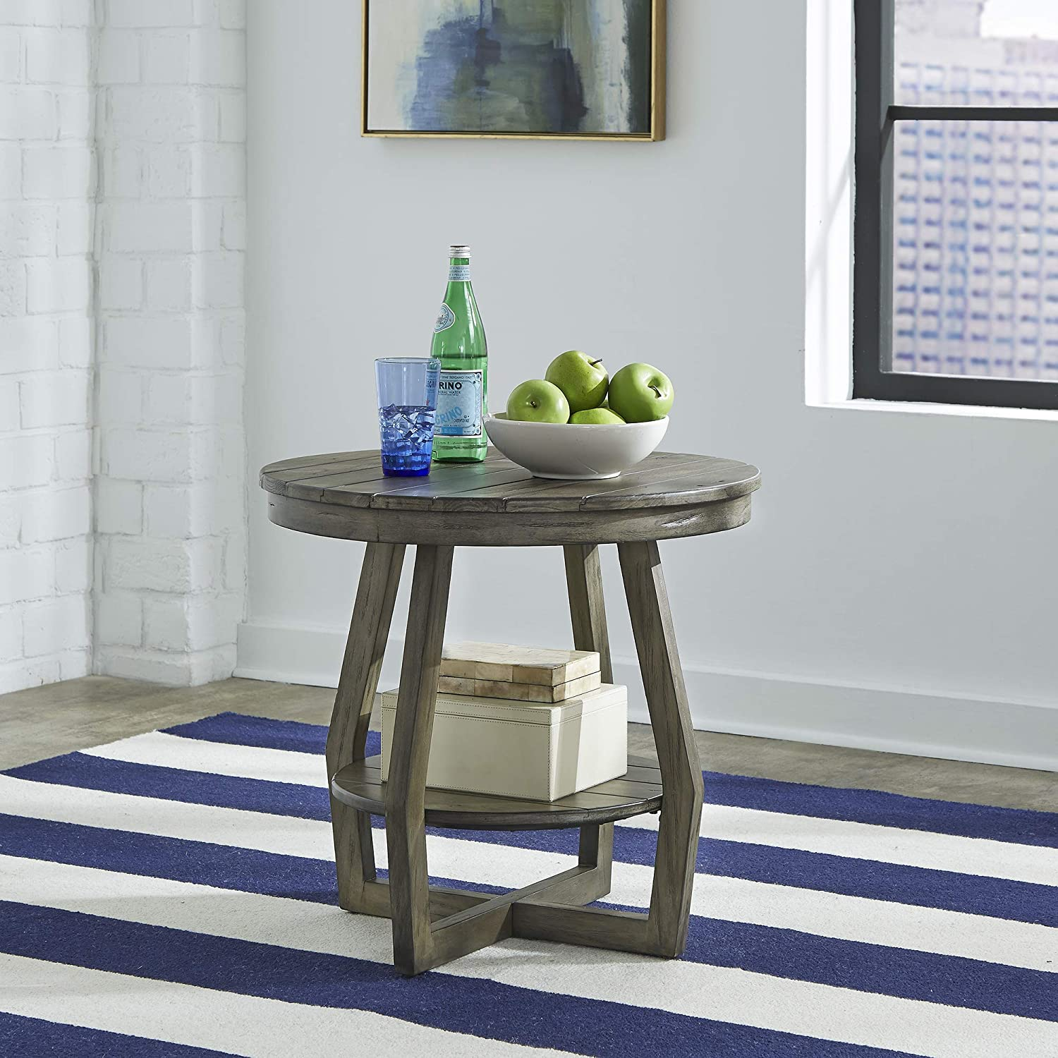 Liberty Furniture INDUSTRIES Hayden Way End Table, W26 x D26 x H24, Gray