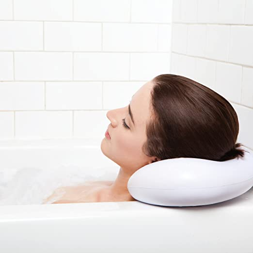 BEST BATH PILLOW Spa pillows with Suction Cups - Extra Firm and Best Quality - Supports Your Neck & Head Perfectly - Fits All Hot Tub, Whirlpool, Jacuzzi & Standard Tubs - Great Gifts!