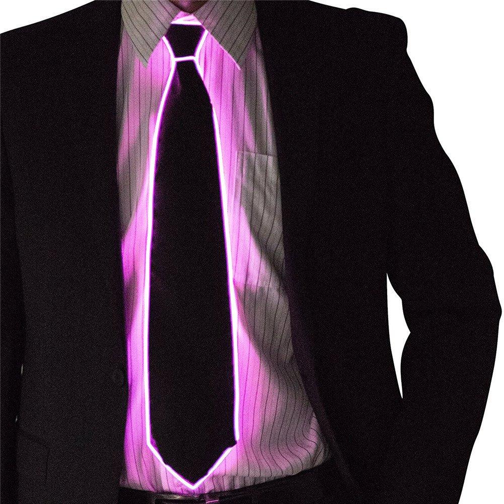 LED leuchten Krawatten Kostü m Zubehö r Glü hende EL Tie LED Krawatte leuchten Partei DJ Bar Club Dekoration Gecorid