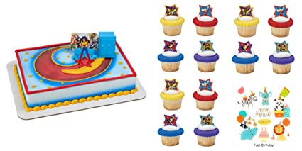 Amazon DC Super Hero Girls Move Over Boys Just Be Awesome Cake