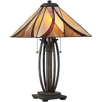 Quoizel Tf1180tva Two 2 Light Asheville Table Lamp In Valiant Bronze