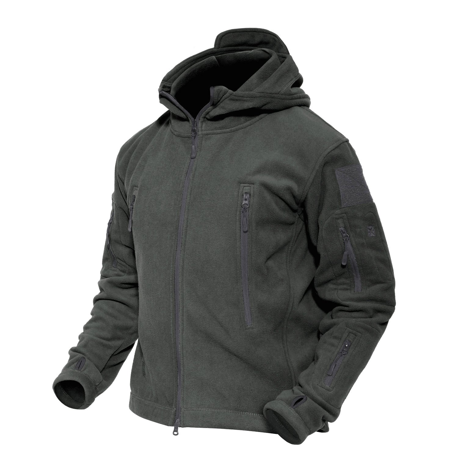 MAGCOMSEN Men 's Windproof Warm Military Tactical Fleece Jacket, Gray, US M (Fit Chest 36''- 39'') by MAGCOMSEN