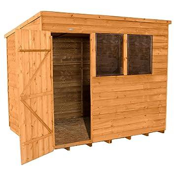 Forest Garden - Cobertizo de jardín 8 x 6 - Tratamiento de impregnación: Amazon.es: Jardín