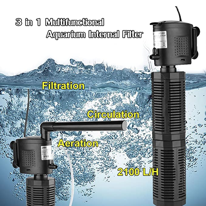 3 en 1 Filtro 2100L/H Interior Bomba de Acuario con Esponja Bioquímica Sumergible: Amazon.es: Hogar