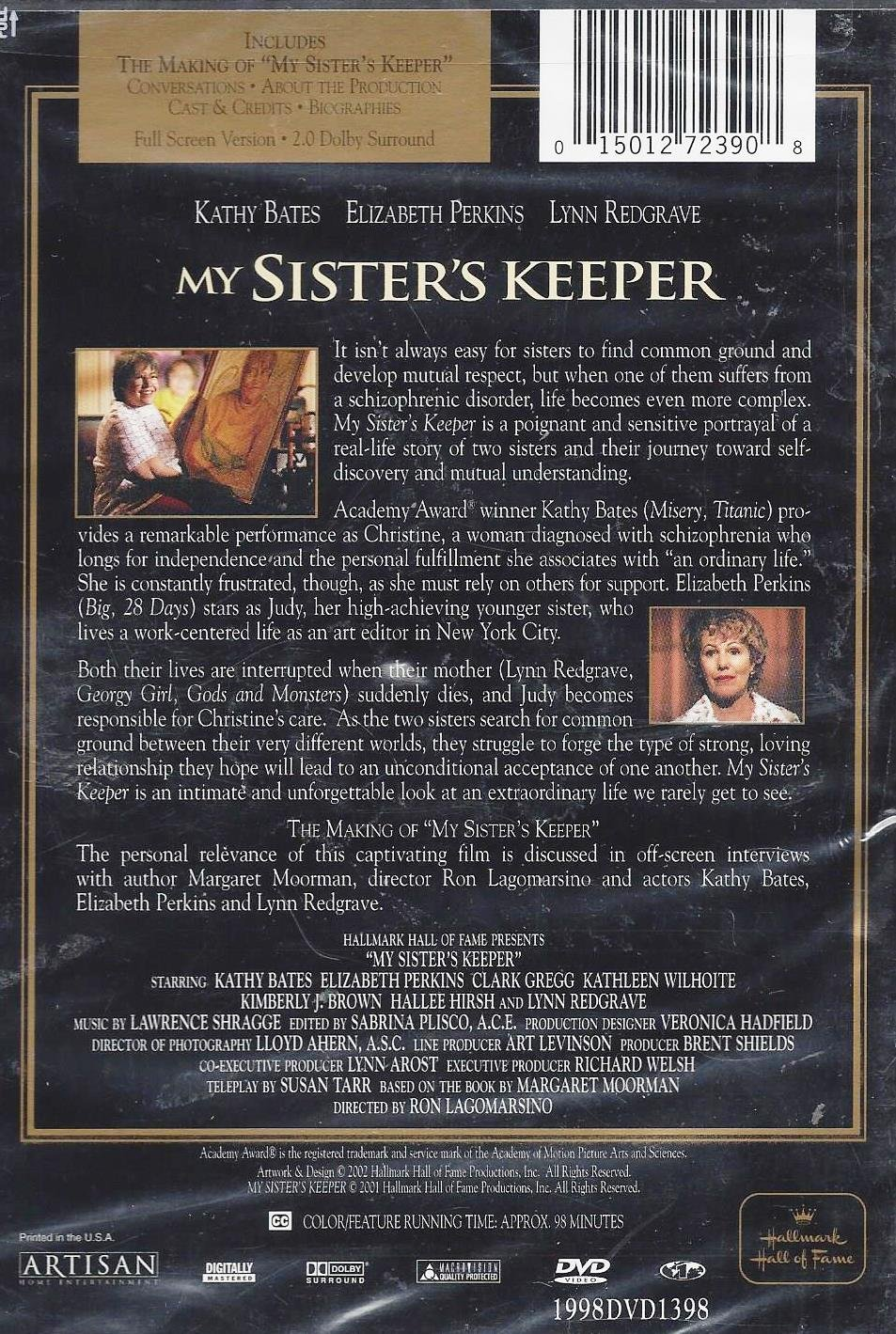 amazon com my sister s keeper hallmark hall of fame gold crown amazon com my sister s keeper hallmark hall of fame gold crown collector s edition 2002 movies tv