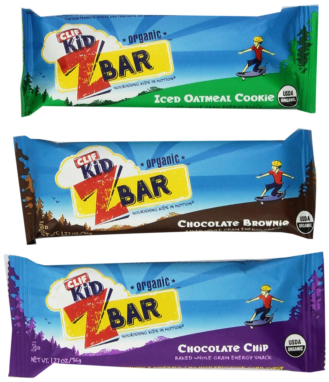 CLIF Kids Zbar Variety Pack, 1.27 oz, 36 Count by CLIF