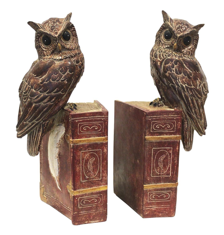 Paar Zwei Buchstü tzen Eulen Keyhomestore