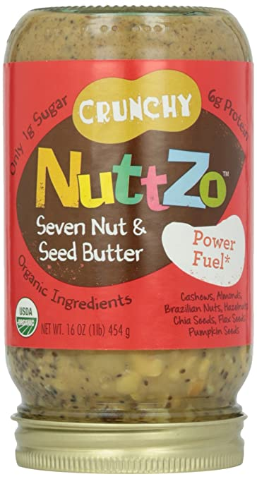 Nuttzo Organic 7 Nut & Seed Butter Spread, No Peanuts, 16 oz