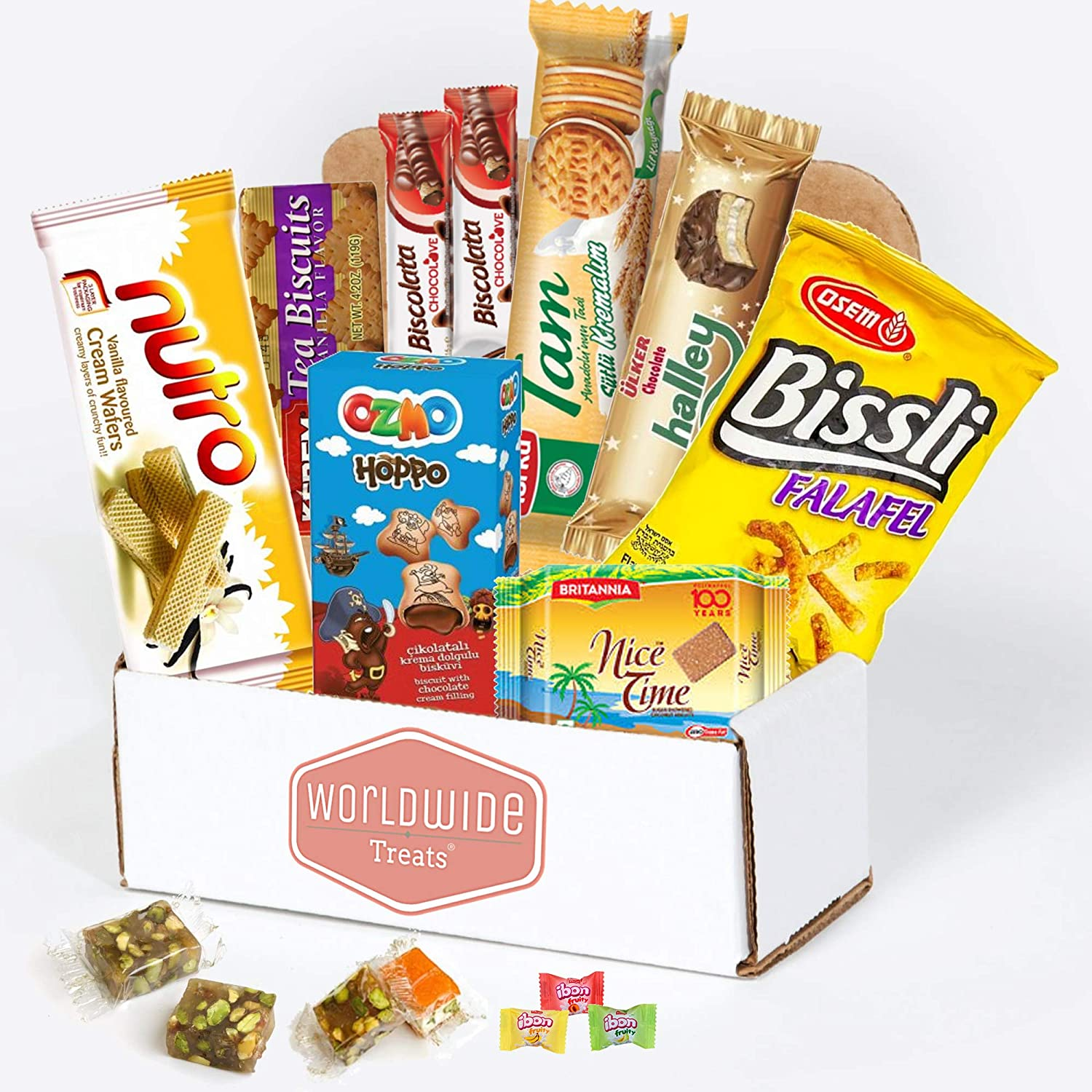 The Middle Eastern Snack Mix Package by WorldWideTreats - Snacks from Turkey, Israel, Palestine, UAE, Oman and more