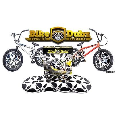 "BikeDubz Mayhem 20"" Chrome BMX Freestyle Bicycle Spoke Wheel Covers (Fits: Mongoose | Eastern | SE | DK | KHE | Colony | Huffy) : Sports & Outdoors"