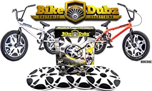 "BikeDubz Mayhem 20"" Chrome BMX Freestyle Bicycle Spoke Wheel Covers (Fits: Mongoose | Eastern | SE | DK | KHE | Colony | Huffy)"