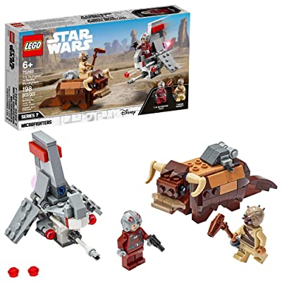LEGO Star Wars: A New Hope T-16 Skyhopper vs Bantha Microfighters 75265 Collectible Toy Building Kit for Kids, New 2020 (198 Pieces): Toys & Games