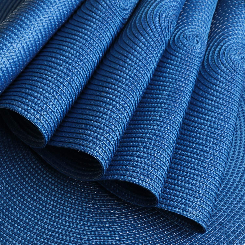 Azul Homcomodar Juego de manteles Redondos de 6 manteles Tejidos Redondos Resistentes al Calor para Mesa de Comedor//Cocina