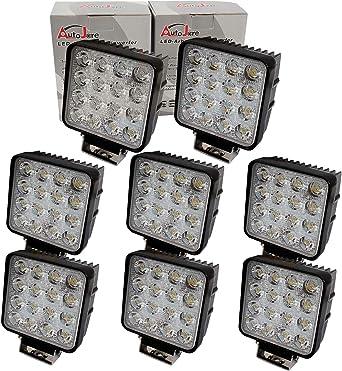 Brightum 48w 4 3 Work Light 4560lm Arbeitsscheinwerfer Led 12 V 24 V 8 Stück Beleuchtung