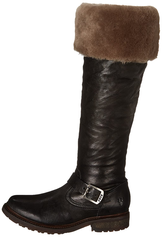 FRYE Women's Valerie Shearling Over-The-Knee Riding Boot B00IMJK1ZK 8 B(M) US Black-75006