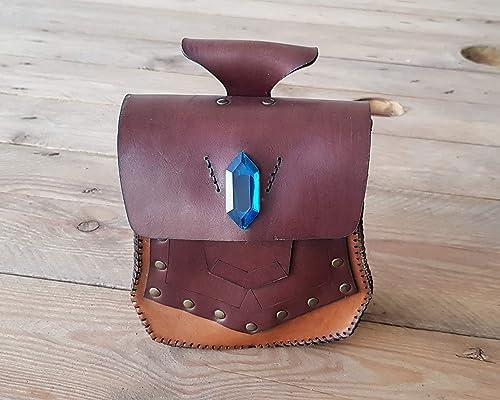 Bolsa de cuero para noble, bolsa de cinturón para larp ...