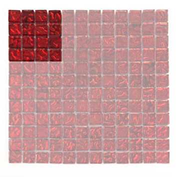 Glas Mosaik Fliesen U2013 Rot Glas U2013 Dekorative Optik Für Badezimmer, Dusche  Wände, Küche