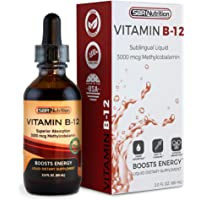 Vitamin B12 Sublingual Liquid Drops - Methylcobalamin, VIT B 12 Supports Energy, Max Absorption, 3000mcg Per Serving, 60 Servings, Non-GMO, Vegan Friendly, Manufactured in The USA