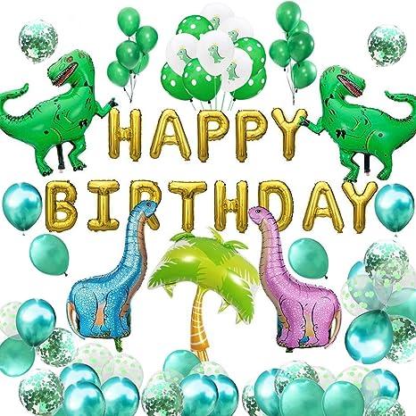 Deckengirlande Happy Dino 4 Stränge Hängedeko Dinosaurier Kindergeburtstag Party