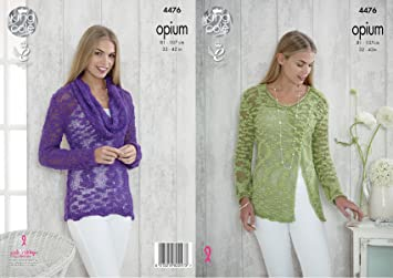 375930ef8 Image Unavailable. Image not available for. Color  King Cole Womens Opium  Knitting Pattern ...