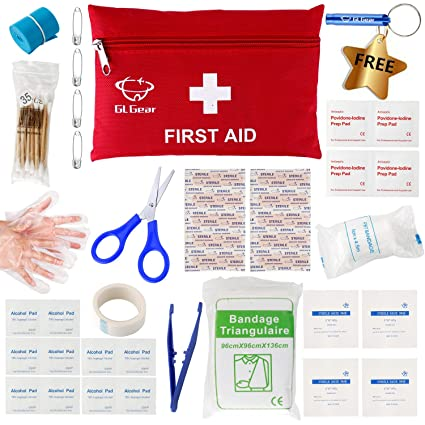 d7603fe341 Amazon.com   GL Gear Portable First Aid Kit Medical Survival Bag ...