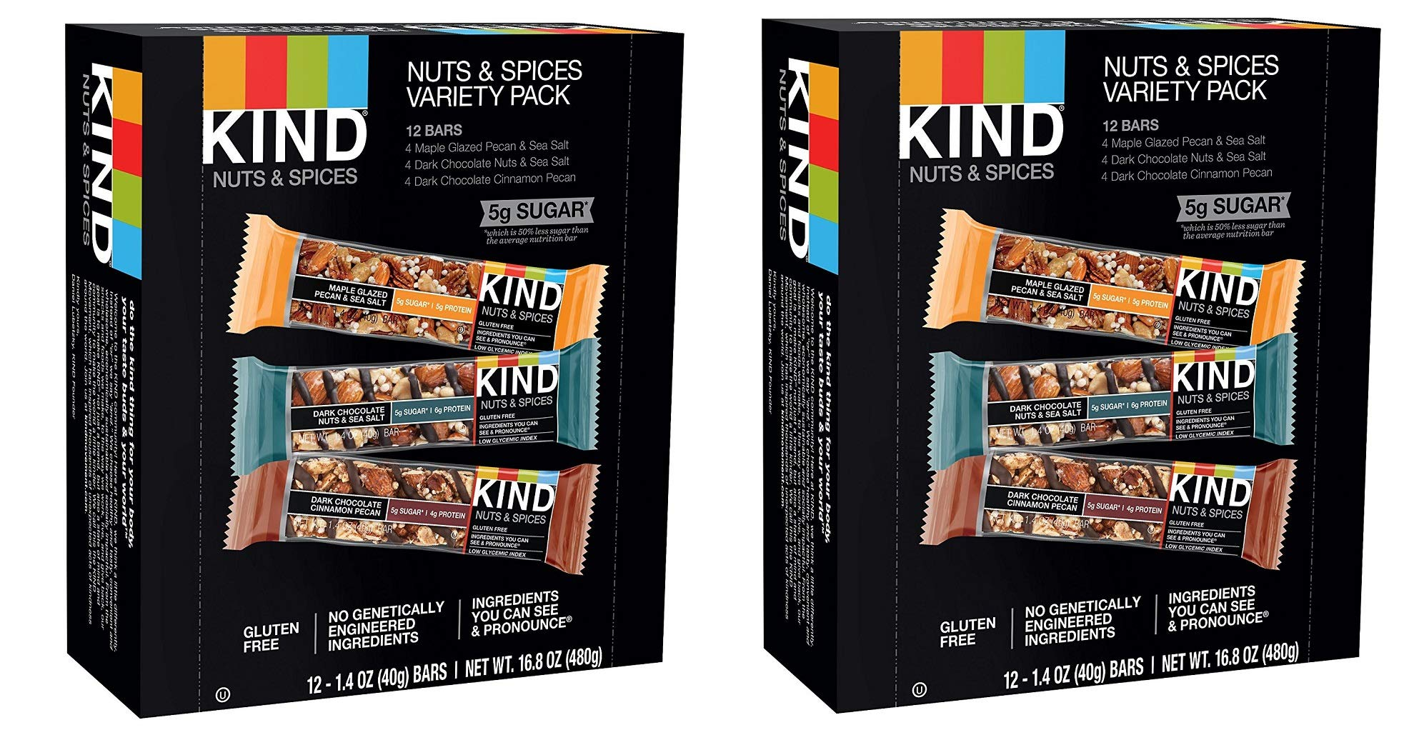 KIND Bars, Nuts and Spices Variety Pack, Gluten Free, 1.4oz (24 Bars) by  (Image #1)
