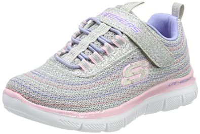 Skechers Girls Skech Appeal 2.0 Mini Metal Madness Trainer,Light Gray/Multi,