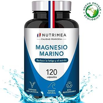 Magnesio y Vitamina B6 Cansancio Fatiga Alivio de Calambres Magnesio Marino Potente Suplemento Articulaciones Cartílagos Huesos Piel Energia ...